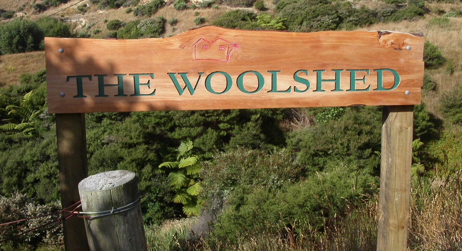 The Woolshed Sign